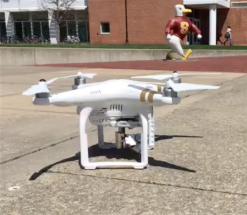 Marine litter detection in a coastal area using drones