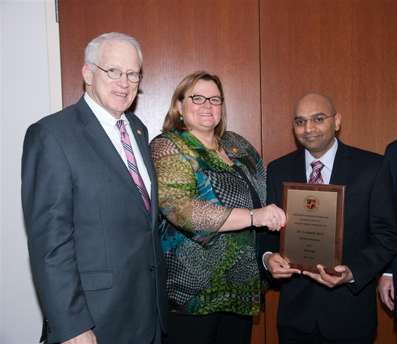 Univ System of Maryland Regents Award for mentoring 2013-14
