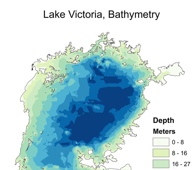 Bathymetric Map of Lake Victoria