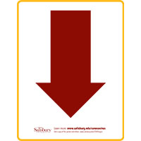Arrow Down Safety Signage Thumbnail