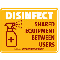 Disinfect Equipment rate Safety Signage Horizontal Thumbnail