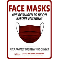 Face Masks Required Before Entering Safety Signage Thumbnail