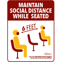 Seated Social Distance Safety Signage Thumbnail