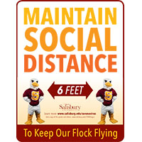 Maintain Social Distance Safety Signage Thumbnail
