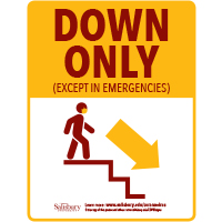 Stairs Down Only Safety Signage Thumbnail